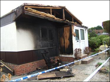 Image of Arson attack on home of Ladycroft resident
